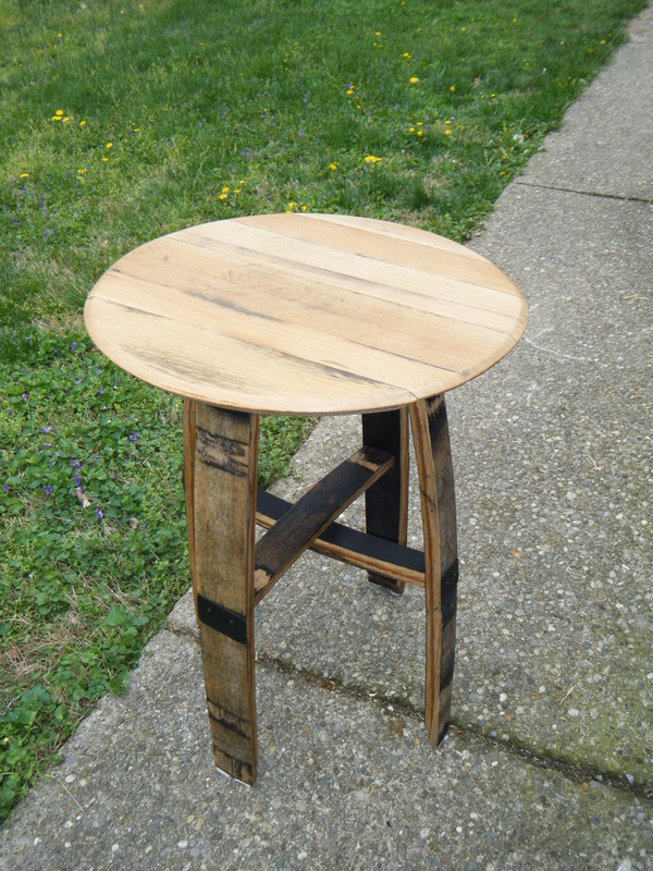 Bourbon Barrel Stave Side Table